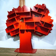 Tree Shaped Bookcases Adding Interest To Kids Room Decorating