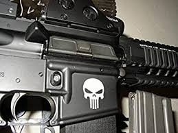 Amazon Com 32 Willys Ar15 Lower Punisher Skull Decal Premium 1 5 X 1 Ar 15 Molon Labe Sniper Military Iii Truck Suv Motorcycle Helmet Vans Wall Art Laptop Notebook Tablet White Automotive
