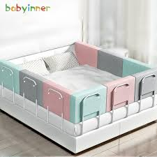 Baby Inner Kids Crib Bumper Newborn Bed Fence Adjustable Bed Barrier Fence Bumper Pads For Baby Crib For Girls Safety Guardrail 60cm Shopee Philippines