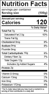 fda pliant nutrition facts label