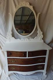 antique dresser with swing mirror by