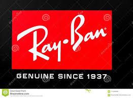Logo de Ray-Ban sur un mur image stock éditorial. Image du club ...