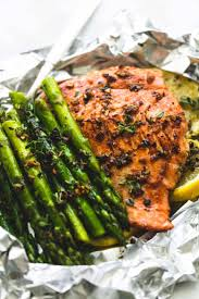 Herb Butter Salmon and Asparagus Foil ...