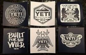 Authentic Yeti Logo Decals Stickers Coolers Ramblers Lot Of 6 Yeti Stickers Yeti Logo Yeti