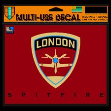 London Spitfire Wincraft 5 X 6 Car Decal Walmart Com Walmart Com