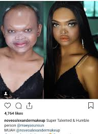 extreme makeup before and after
