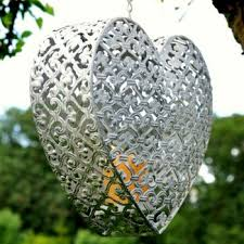 hanging heart candle holder from