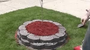building a raised island garden bed w