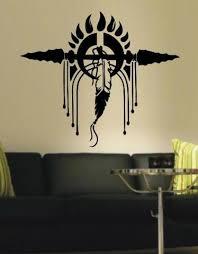American Indian Feather Headdress Wall Art Sticker Vinyl Decal Various Vinyl Lady Decals