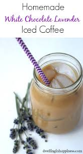 white chocolate lavender iced coffee