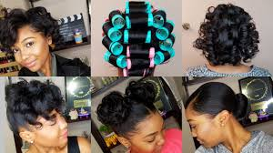how to roller set hair roller setting