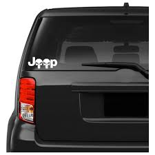 Jeep Wrangler Punisher Silhouette Car Decal Sticker Army Force Gear