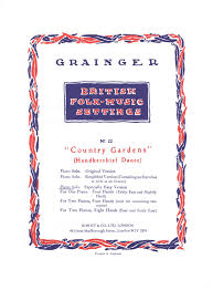 country gardens from percy grainger