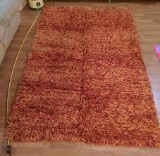 burnt orange vintage rug 58 x 98