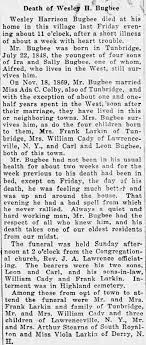 Obituary for Wesley Harrison Bugbee - Newspapers.com