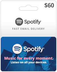 60 spotify gift cards spotify gift