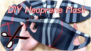 EASY DIY Neoprene FaceMask / Cut Fabric ...