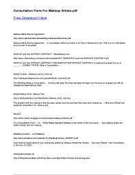 makeup consultation form pdf fill