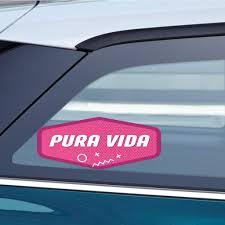 Amazon Com Makoroni Pura Vida Car Magnet Magnetic Bumper Sticker 3x8 Or 4 5x10 5 Inc Automotive