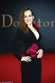 Downton Abbey Movie: Sophie McShera oozes glamour in a plunging black gown  at the premiere | Daily Mail Online