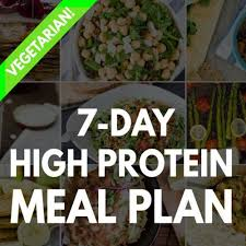 high protein vegetarian meal plan