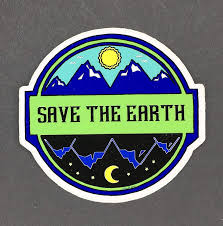 Amazon Com Save The Earth Sticker Earth Stickers Earth Day Handmade