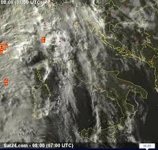 Immagine da satellite - Diretta: Perturbazione in avanzamento, già ...