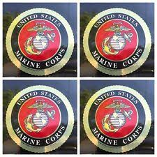Marine Corps Collectibles Marine Corps Collectibles Pack Of 4 4 Inch Usmc Us Marine Corps Decal Car Bumper Sticker Ega Zsco Iq