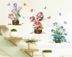 Flower Pot Drawing Home Room Decor Removable Wall Stickers Decal Decoration Ebay