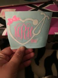 Monogram Stethoscope Decal Heart Stethoscope Decal Registered Nurse Decal Car Decal Tumbler Decal Yeti Dec Cricut Crafts Decals For Yeti Cups Vinyl Crafts