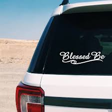 Blessed Be Vinyl Car Decals Pagan Wiccan New Age Sticker Decor Removable Laptop Decal For Apple Macbook Air Pro Decoration Wall Stickers Aliexpress