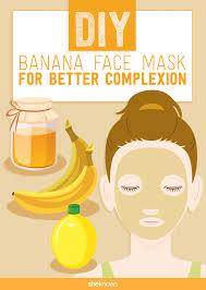 a diy banana face mask your skin will