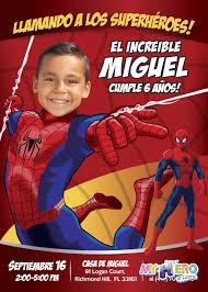 Invitacion De Hombre Arana Cumpleanos Tema Spiderman Cumpleanos