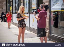 Alyssa Smith, an on-air personality of Cheddar, the streaming video Stock  Photo - Alamy