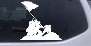Battle Of Iwo Jima Car Or Truck Window Decal Sticker Rad Dezigns