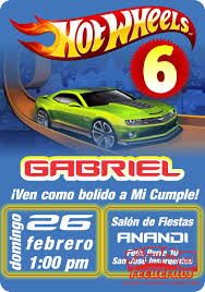 Fiesta De 6 De Gabriel Fan De Los Hotwheels