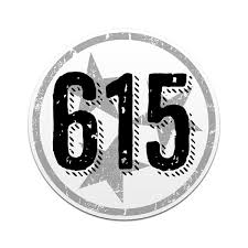 615 Area Code Tennessee Tri Star Decal Nashville Tn Car Sticker Tennessee Shirt Company