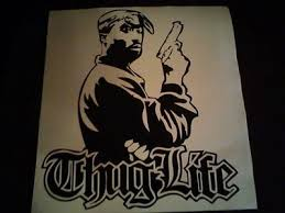 2 Pac Tupac Shakur Thuglife Vinyl Quote Wall Art Car Graphics Stickers Decals Ebay