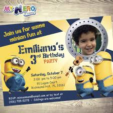 15 Best Minions Birthday Invitations Minions Theme Party Images