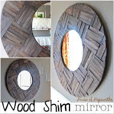 diy farmhouse mirror made from shims