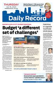 Jacksonville Daily Record 7/16/20 by Daily Record & Observer LLC - issuu