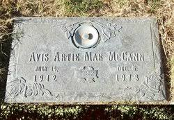 Avis Artie Mae Edwards McCann (1912-1973) - Find A Grave Memorial