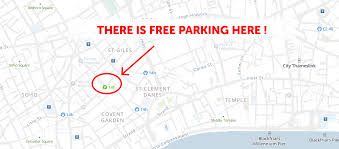 2020 map of free parking in london