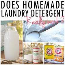 homemade laundry detergents really work