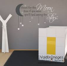 Shoot For The Moon Wall Decal Nursery Wall Decal Nursery Decor Nursery Decals Nursey Rhyme Decal Wall Moon Wall Decal Kids Wall Decals Nursery Wall Decals