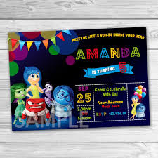 Inside Out Party Invitation Inside Out Invitation Inside Out