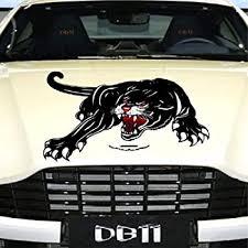 Amazon Com Practisol Car Decals 1 Pcs Black Panther Car Hood Sticker Self Adhesive Vinyl Graphics Decals Universal Scratch Hidden Car Stickers Automotive