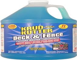 Krud Kutter Df01 Blue Pressure Washer Concentrate Deck And Fence Cleaner With Sweet Odor 1 Gallon