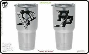 Pittsburgh Penguins Set Of 2 For Yeti Cup Vinyl Decal Nhl Car Sticker Cornhole Ebay