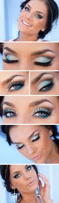 makeup looks for light blue dress